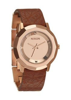 Nixon Womens Watch The Bobbi Rose Gold Saddle