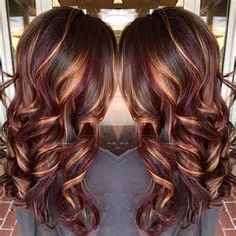 Long Curly Brunette Hair with Highlights - Bing images