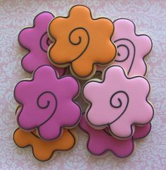 Whimsical Flowers Decorated Sugar Cookies
