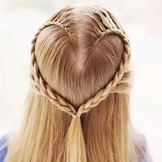 Peinado con trenza para niña ~ Mimundomanual School Hairstyles For Teens, Braided Hairstyles For Teens, Teen Girl Hairstyles, 2015 Hairstyles, Creative Hairstyles, Heart Hairstyles, Holiday Hairstyles, Stylish Hairstyles, Beautiful Hairstyles