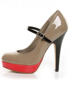 The Mary Jane variation of the Madden Girl sling backs I bought. HOTT no matter how you shape it!!