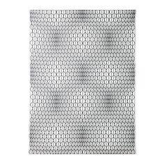 NATTLJUS Metervare, hvit/svart