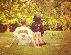 www.KarenNoblePhotography.com ... Father and son, baseball.