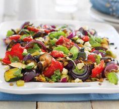 Roast #vegie and lentil #salad #recipe | Australian Healthy Food Guide