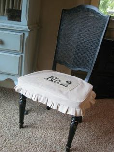 Whitney's Little Black Chair via www.shanty-2-chic.com with step by step instructions and photos