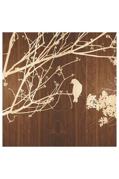 Woodcut Birds Wall Art.... I'd put it on a pastel blue wall though.