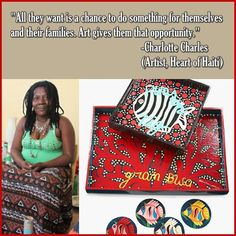 #HeartofHaiti artist, #CharlotteCharles via @Macy's Official
