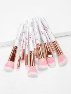 White Makeup Brush Set Makeup Brushes, size features are:Bust: ,Length: ,Sleeve Length: Makeup Brush Storage, Makeup Brush Cleaner, Makeup Brush Holders, Makeup Brush Set, Makeup Kit, Best Makeup Brushes, How To Clean Makeup Brushes, Best Makeup Products, Make Makeup