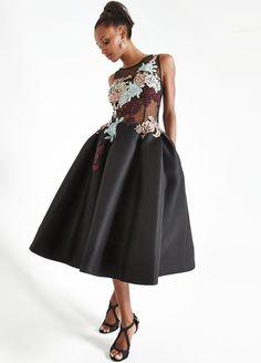 Jovani Sleeveless Embroidered Fit & Flare Dress