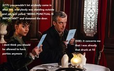 """BEING PUNCTUAL IS IMPORTANT!"" -- texts from the tardis"