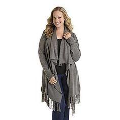 Jaclyn Smith Women's Plus Knit Cardigan at Kmart.com
