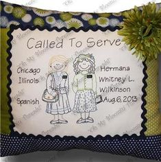Sisters Called to Serve Embroidery Pattern (A70) Embroidery Patterns by Oh My Bloomin' Threads