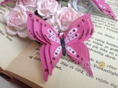 3D Pink Hand cut Butterflies  3D Handcut by LilsCardCraft on Etsy, $4.50