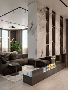 Stunning luxury interior design ideas from modern boutique hotels. Lobby, bedroom, stairways and entryways, a room by room guide to finding inspiration with the best interior architecture from world renowned hotels. Interior Design Living Room, Living Room Designs, Fireplace Design, Modern Fireplace, Fireplace Ideas, Luxury Interior Design, Interior Designing, Contemporary Interior Design, Luxury Living