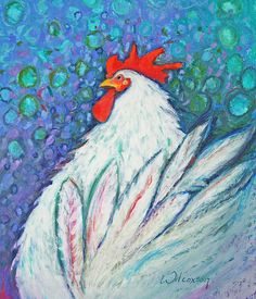 Fabulous Freddy Chicken Painting by Jane Wilcoxson - Fabulous Freddy Chicken Fine Art Prints and Posters for Sale