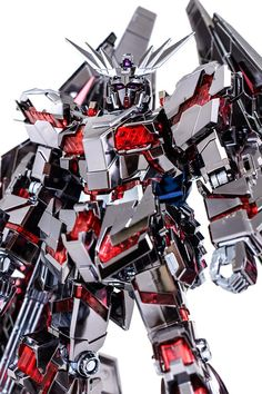 HG 1/144 Unicorn Gundam 03 Phenex type RC [Destory Mode] Ver. GFT Silver  [Custom Plated] Modeled by  우그우그