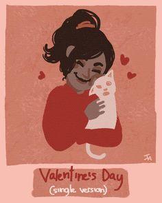 Día 14 - Amor💕 (Love)  Para el día de hoy quería probar un estilo más sencillo y mono y... Pues este es el resultado :p  Los gatos son amor, los gatos son vida💕💕 . . . #artnestoltes #artoftheday #sketch #doodle #drawing #painting #digitalart #art #illustration #graphicdesign #cartoon #cute #kawaii #girl #portrait #cat #kitty #gato #valentines #valentineday #love #amor #single #animals #pet