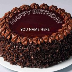write name on chocolate birthday cake wishes for friends name. happy birthday wishes cake with friends name editor.print friends name on chocolate birthday cake pictures Write Name On Cake, Birthday Cake Write Name, Birthday Cake Greetings, Happy Birthday Wishes Cake, Happy Birthday Cake Images, Birthday Cake Pictures, Cake Name, Birthday Cakes For Men, Cake Birthday
