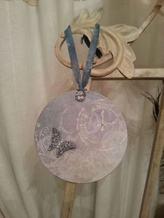 Luna Mixed Media Shabby Chic Vintage Lady by S. Giannetti