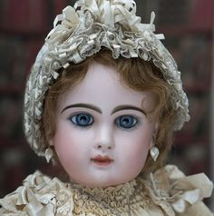 """26"""" (67 cm) Antique Beautiful French Bisque Bebe Jumeau with Rare """"D"""" Mark"""