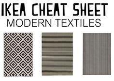 PERFECT! Ikea Cheat Sheet: Modern Textiles