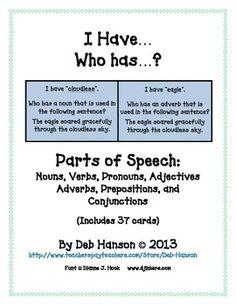 seven parts of speech pdf