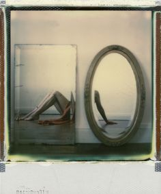 """Shooting Film: Creative """"Self-Portrait with Mirror"""" Polaroid Photography by Anne Locquen"""
