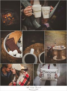 Campfire and smores engagement session www.facebook.com/thesaltypeanut