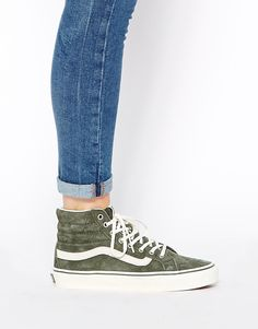 Image 4 of Vans SK8 Hi Slim Khaki Hi Top Trainers