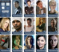 Some of Hero Cards from my Doctor Who retheme of 6 Nimmt!/Category 5/The Walking Dead Card Game