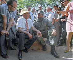 Fidel Castro and Leonid Brezhnev in Cuba, 1974