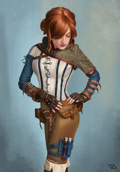 Triss Merigold by Vadim Zaytsev. ArtStation  Material render practice and The Witcher fanart. Cosplay by: Jessica Dru Original photo reference by: Greg De Stefano Photography