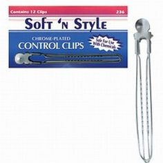 Soft 'n Style Control Clips / 12 per Box (236B) -- This is an Amazon Affiliate link. Want additional info? Click on the image.