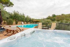 the eco salty swimming pool and hot tub @fontanaro, @paciano @umbria @tuscany
