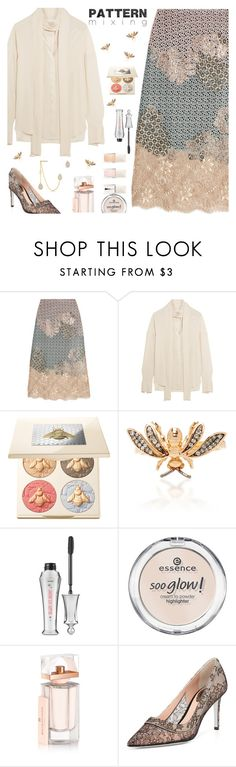 """""""Head-to-Toe Pattern Mixing"""" by annbaker ❤ liked on Polyvore featuring Biyan, Alexander McQueen, Chantecaille, Aida Bergsen, Benefit, Essence, Balenciaga, René Caovilla, Anne Sisteron and patternmixing"""