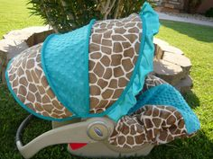 Infant car seat cover Pink and Brown Giraffe by BabyPizzazz, $79.99 ...