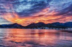 December sunrise on Lake Estes/ Estes Park, CO