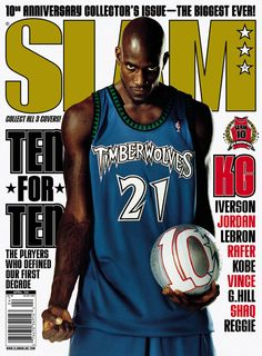 Slam 77 Kevin Garnett #21 Minnesota Timberwolves Follow me @ Russreo and add a comment to the celebrity pic. On my page. C U there.