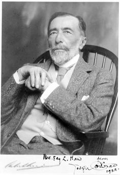 """Joseph Conrad, Polish-born novelist who is now celebrated as one of the great masters of the English language novel, died in aged of a heart attack… """"A word carries far, very far, deals destruction through time as the bullets go flying through space. Book Writer, Book Authors, Writers And Poets, Playwright, Guys Be Like, Belle Photo, Good People, Portraits, Canterbury"""
