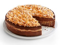 German Chocolate Cheesecake recipe from Food Network Kitchen via Food Network