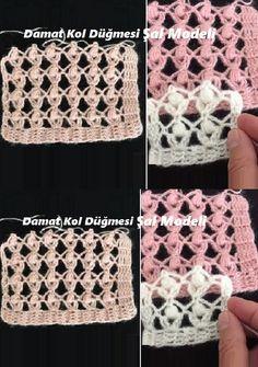 Diy Crafts Knitting, Diy Crafts Crochet, Easy Crochet, Crochet Baby, Filet Crochet, Crochet Stitches, Diy Crafts Dress, Knitting Patterns, Crochet Patterns