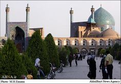 Imam Khomeini Mosque, Tehran, Iran. SO much beautiful artwork in Iran.