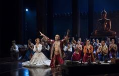 """Kelli O'Hara, Ken Watanabe and Company in a scene from the Lincoln Center Theater revival of """"The King and I"""" (Photo credit: Paul Kolnik)"""
