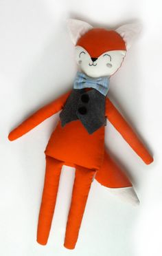 Fox with bow tie and vest by MiniBoheme on Etsy, $55.00