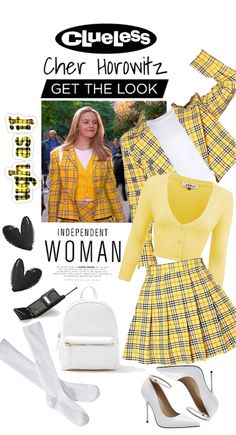 Get The Look : Cher Horowitz Outfit   ShopLook Cher Clueless Outfit, Clueless Fashion, Fashion Tv, Look Fashion, Clueless Style, Fashion Outfits, Plaid Outfits, Retro Outfits, Girly Outfits