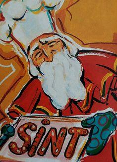Sinterklaas bakt letters