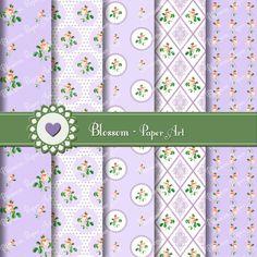 Violet Flowers Digital Scrapbooking Pack - Decoupage - Collage Sheet - Digital Paper - Printable - 1611. $3.50, via Etsy.