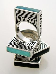 OH MY GOD!! I just died. Beautiful geometric and turquoise, silver jewellery
