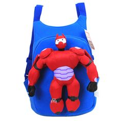 Big Hero 6 Backpack Baymax Schoolbag Blue