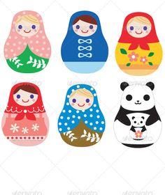 Matryoshka Russian Doll and Panda